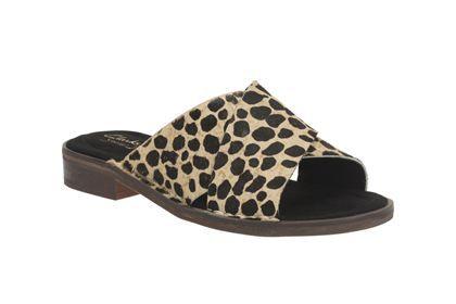 Clarks Cabaret Script, Leopard Print, Womens Casual Sandals