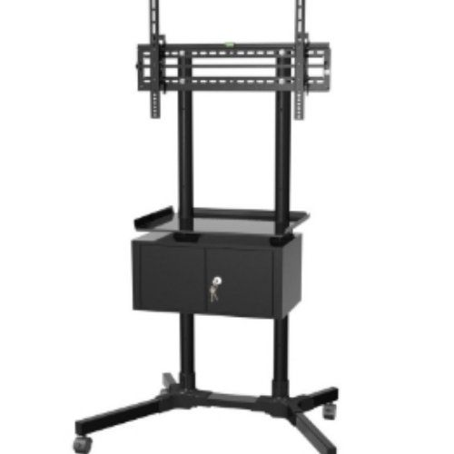 "Black Friday Deal OLLO: PREMIUM: Universal Rolling TV Cart Trolley FOR 32-55"" LED, Plasma, LED, Security Lock, Locking aerated component Cabinet, Baked Enamel Finish (TRC-64C) from OLLO Cyber Monday"