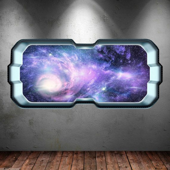 Outer Space Galaxy Stars Window Full Colour by WallSmartDesigns, £6.99