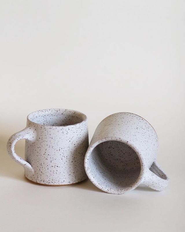Rustic Colbalt and White Hand Thrown Mug