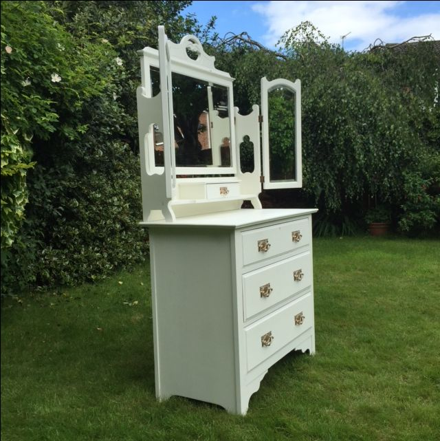 Dressing chest painted with Autentico Eggshell in Milk - Reloved by Jo.