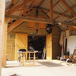 22 best garage - atelier images on pinterest | workshop, garage ... - Construction D Un Garage En Bois