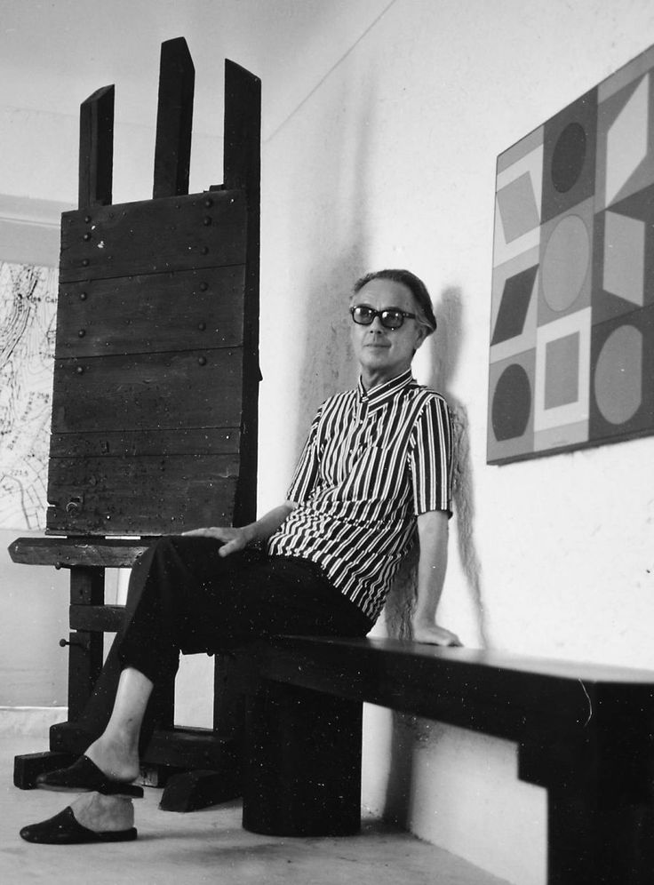 "Victor Vasarely, was a Hungarian–French artist, who is widely accepted as a ""grandfather"" and leader of the short-lived op art movement. Wikipedia Born: April 9, 1906, Pécs, Hungary Died: March 15, 1997, Paris, France Spouse: Claire Spinner (m. 1930) Children: Jean-Pierre Yvaral, Andre Vasarely"