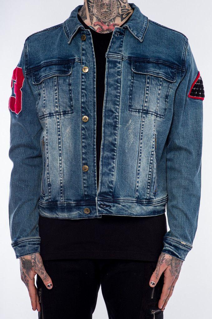 9 best jackets images on pinterest john varvatos parka and cowl cocktail denim jacket blue gumiabroncs Gallery