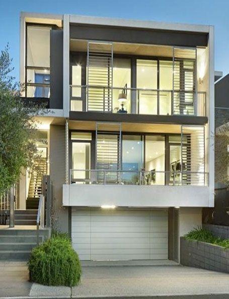 Modern House Facade, Narrow house