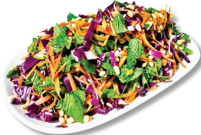 This simple red cabbage coleslaw recipe is rich in antioxidants, the dish includes five different vegetables, each providing great health benefits.