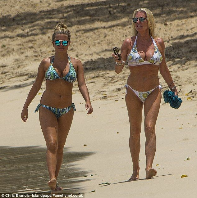 Her mother or sister? Zara Holland and her mother Cheryl Hakeney looked incredible as they headed out in Barbados wearing beautiful bikinis