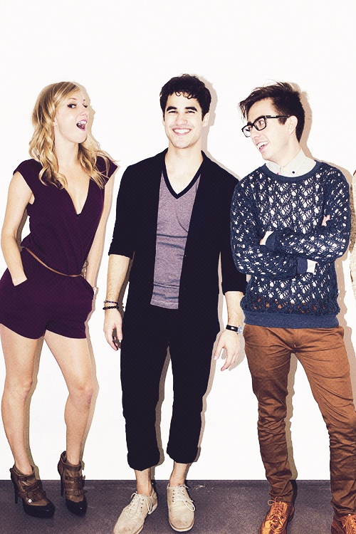 Heather Morris, Darren Criss, and Kevin Mchale. The hell was this from?