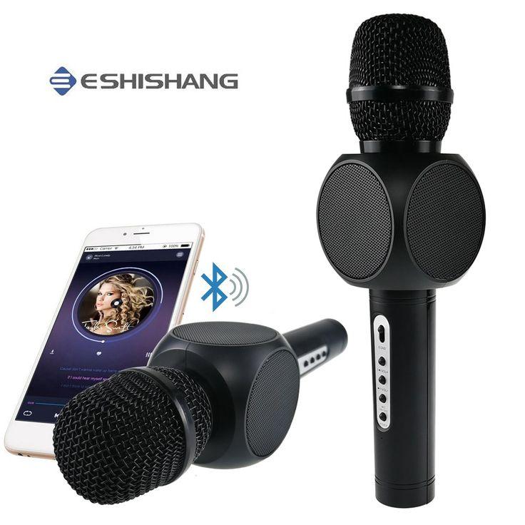 Mejor precio €23.02 Karaoke Micrófono de Mano Micrófono KTV Micrófono inalámbrico Bluetooth 5.1 de la Música de Sonido Karaoke Smartphone para Al Aire Libre Partido Casero  #Karaoke #Micrófono #Mano #inalámbrico #Bluetooth #Música #Sonido #Smartphone #para #Aire #Libre #Partido #Casero  #onlineshop
