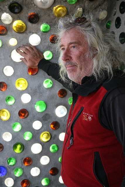 Michael Reynolds,The creator of Earthship houses, the man who thinks beyond the box. I would love to meet him one day.