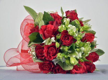 Bouquet di fiori rossi