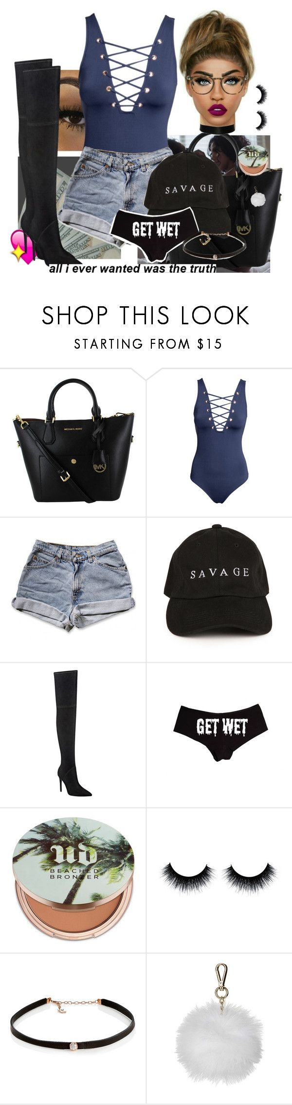"""Up all night."" by yungbeckyy ❤ liked on Polyvore featuring H&M, Kendall + Kylie, Urban Decay, Carbon & Hyde and Topshop"