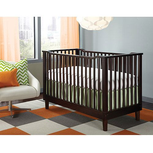 Storkcraft Santino 3-in-1 Fixed Side Convertible Crib (Your Choice of Finish) with Bonus Crib Mattress: Nursery Furniture : Walmart.com