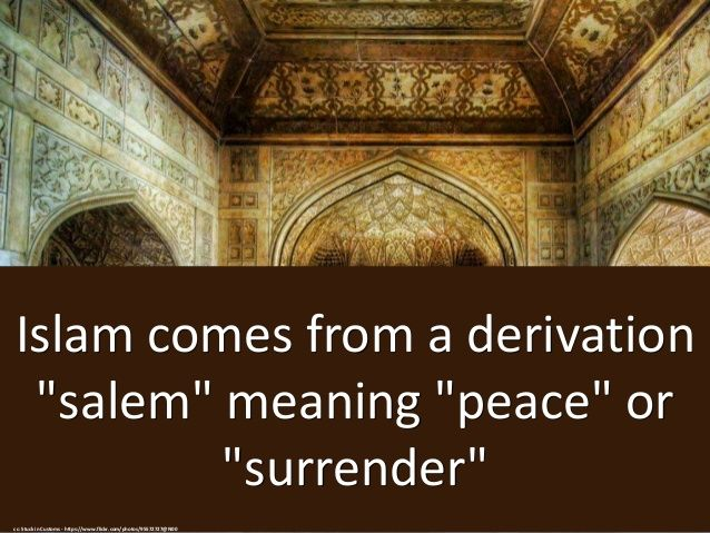 Islam comes from Salam, which means PEACE! ✌☮  #Islam #Peace #Faith
