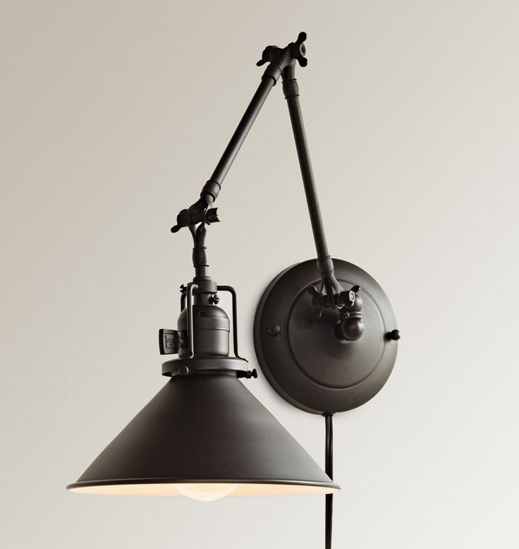 103 best images about lights on pinterest wall lamps copper and rejuvenation industrial reed plug in swing arm wall sconce mozeypictures Choice Image
