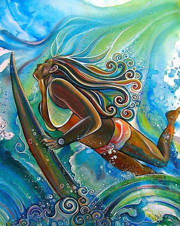 Colleen Malia Wilcox | COTW Surf Artist  @Chelsea Rose Greinstein I think you…