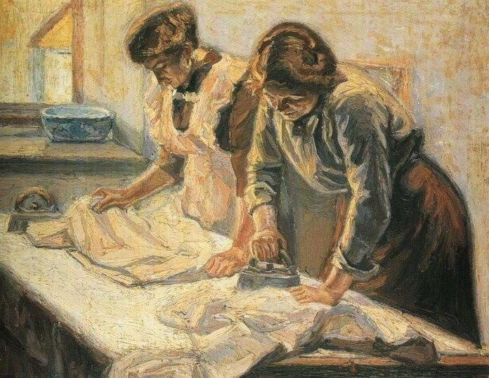 Emmanuel Zairis   emmanuel zairis greek artist 1876 1948 women ironing