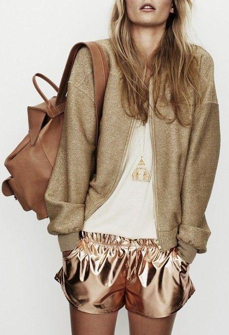 Rose gold shorts