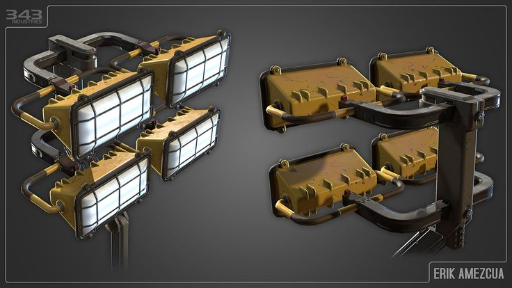 ArtStation - Halo 5: Guardians - Industrial Generator Lamp, Erik Amezcua
