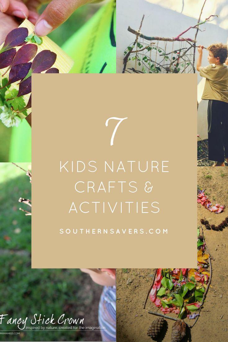 7 Kids Nature Craft Ideas via @SouthernSavers