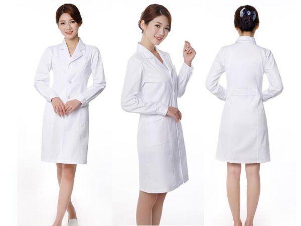 Mẫu áo blouse đồng phục cho bác sĩ nữ thiết kế theo quy định thông tư