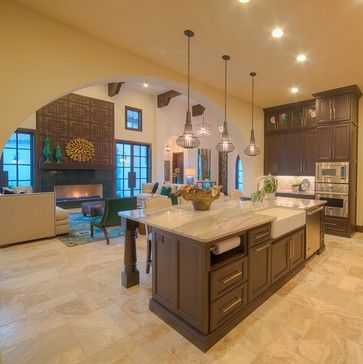 Mediterranean Texas Hill Country Kitchen Design Ideas, Pictures, Remodel and Decor