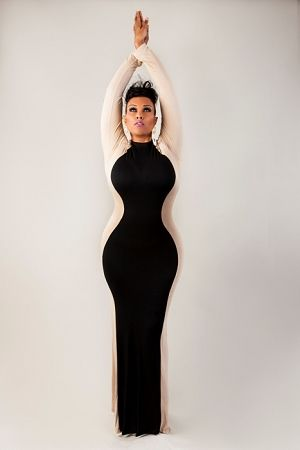 Always wished you had the Jessica Rabbit curves? Get this dress and you're sorted.  ;)