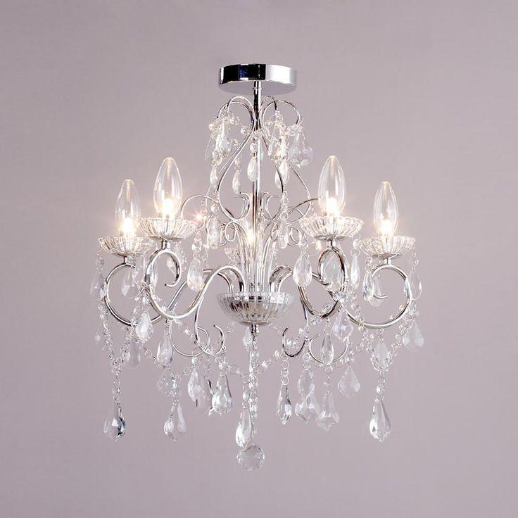 The 25 best bathroom chandelier ideas on pinterest master bath chandelier in bathroom and - Small bathroom chandelier crystal ...
