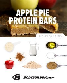 Gluten-Free Apple Pie Protein Bars! You can have your pie and eat it too with this fruit-inspired protein creation.