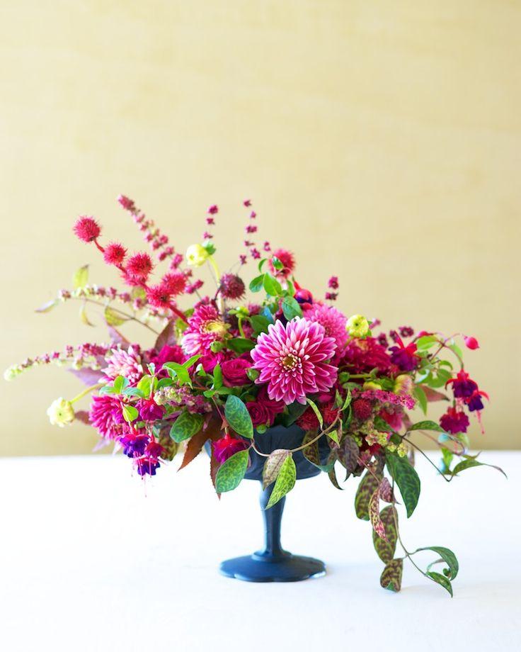 DIY | Floral arrangement | Autumn Color Series: Fuchsia Kiana Underwood | Tulipina.com