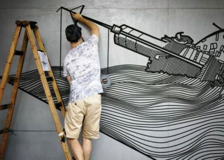 artist Buff Diss use duct tapes for his art