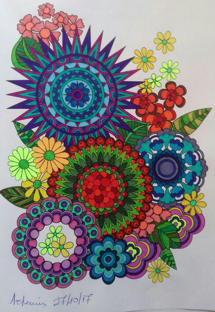 Week 69, flower designs vol 1 by Jenean Morrison coloured by Artemis Anapnioti.