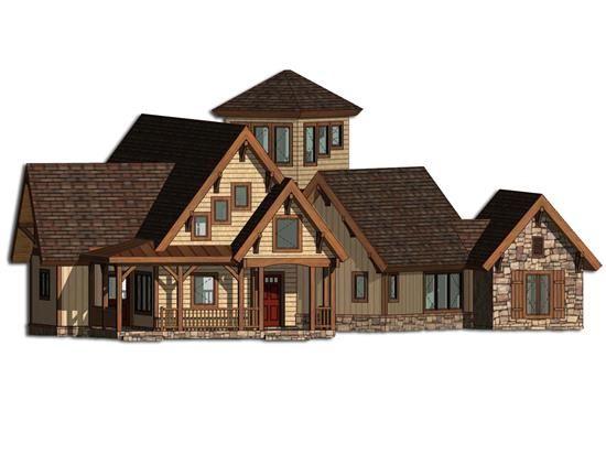 93 best images about house plans on pinterest craftsman for Craftsman log homes