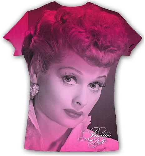 Lucille Ball Sublimated T-Shirt Red | LucyStore.com My life is now complete!