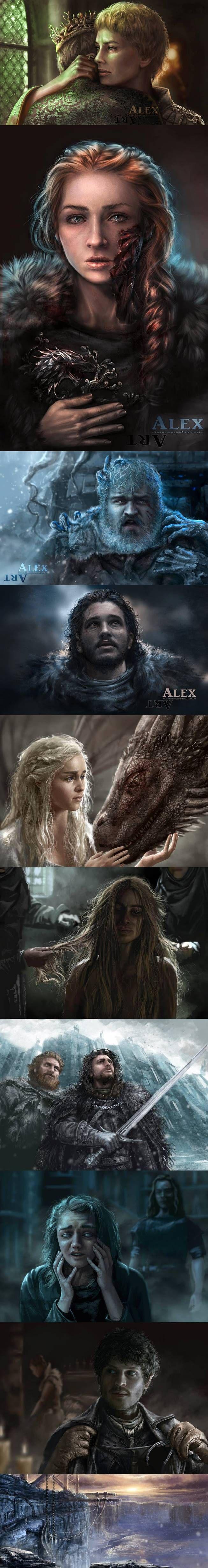 game of thrones alex art