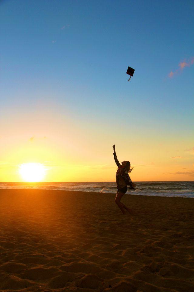 College Graduation picture december 2013, Hawai'i, Sandy Beach on Oahu