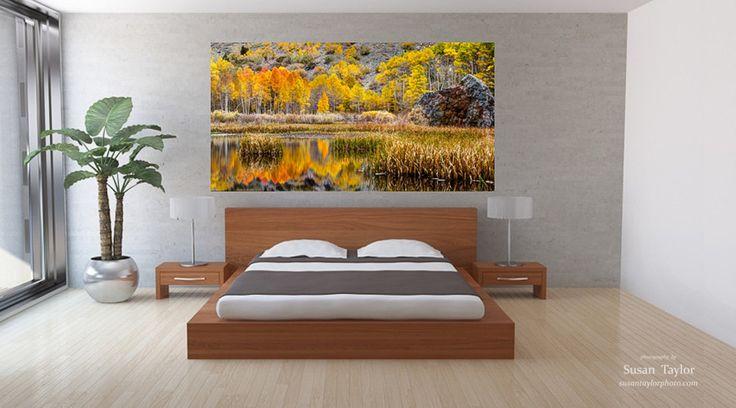 Autumn Photo, Huge Panorama California Print, Sierra Nevada Autumn Print, Aspen Photo, Fall Canvas Art, Mountain Rustic Art, Orange Wall Art by SusanTaylorPhoto on Etsy