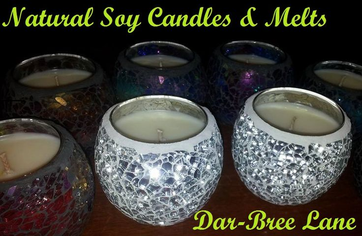 Hand poured natural soy candles!