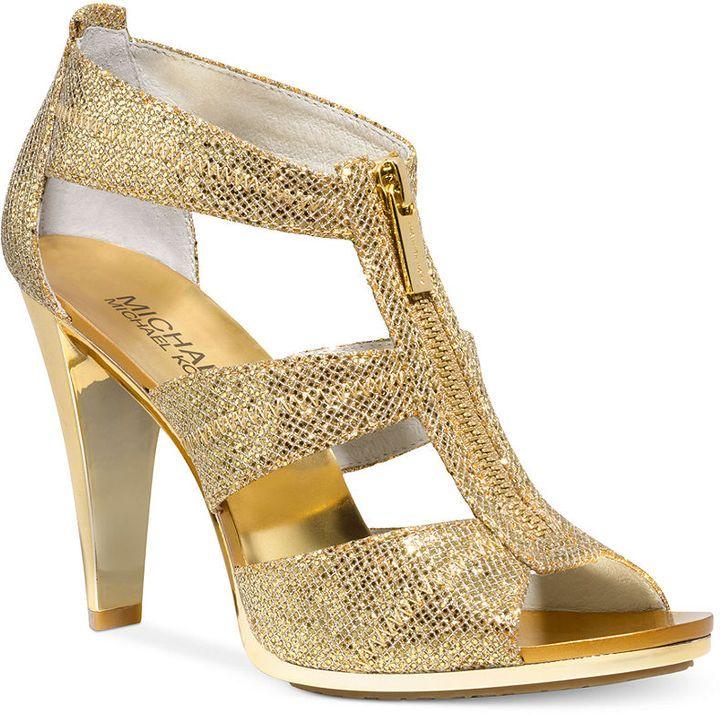 MICHAEL Michael Kors Berkley T Strap Evening Sandals Michael Kors £72 ·  Michael Kors SandalsMichael Kors GoldMichael Ou0027keefeBridal ShoesWedding ...