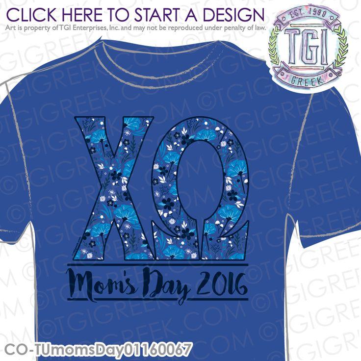 TGI Greek - Chi Omega - Mom's Day - Greek T-shirt #tgigreek #chiomega