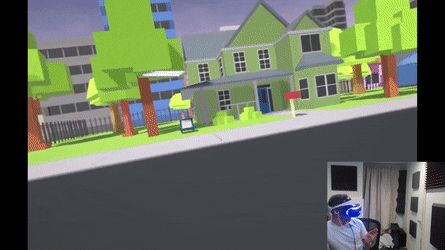 Delivering newspapers in VR  https://68.media.tumblr.com/80fc18ce83e1d8a1b2252e5c5ee911d0/tumblr_ouv34htR241uqxjmao1_500.gif
