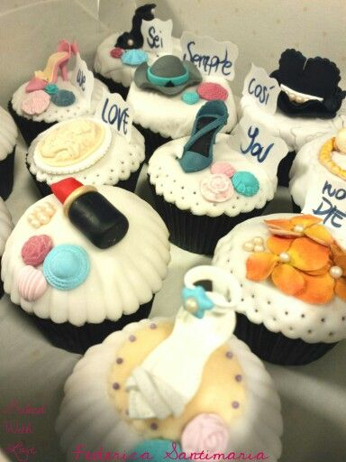 Fashion cupcakes #BakedWithLove by Federica Santimaria