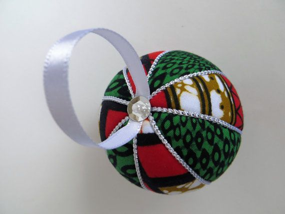 Christmas Ornament  Chitenji African Fabric by OrnamentDesigns