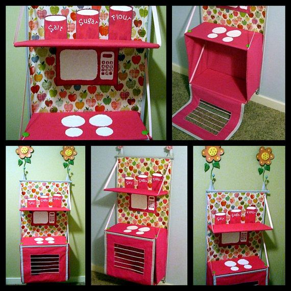 SALE 20 OFF Folding fabric Play Kitchen by sweetiepiesmonkeys, $10.00