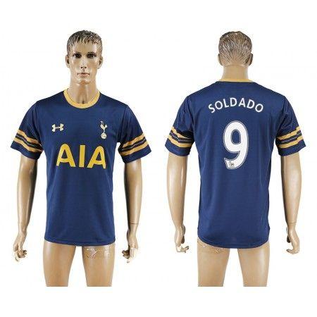 Tottenham Hotspurs 16-17 #Soldado 9 Udebanetrøje Kort ærmer,208,58KR,shirtshopservice@gmail.com