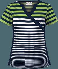 UA Seeing Stripes Kiwi Kai Print Scrub Top
