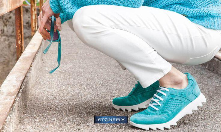 Concedetevi una passeggiata e fatevi ricaricare dai colori che vi circondano, o da quello delle vostre insostituibili Speedy! Noi oggi ne abbiamo scelto un paio color acquamarina http://www.stonefly.it/it/2/collezione/donna/572/speedy-lady-1.html