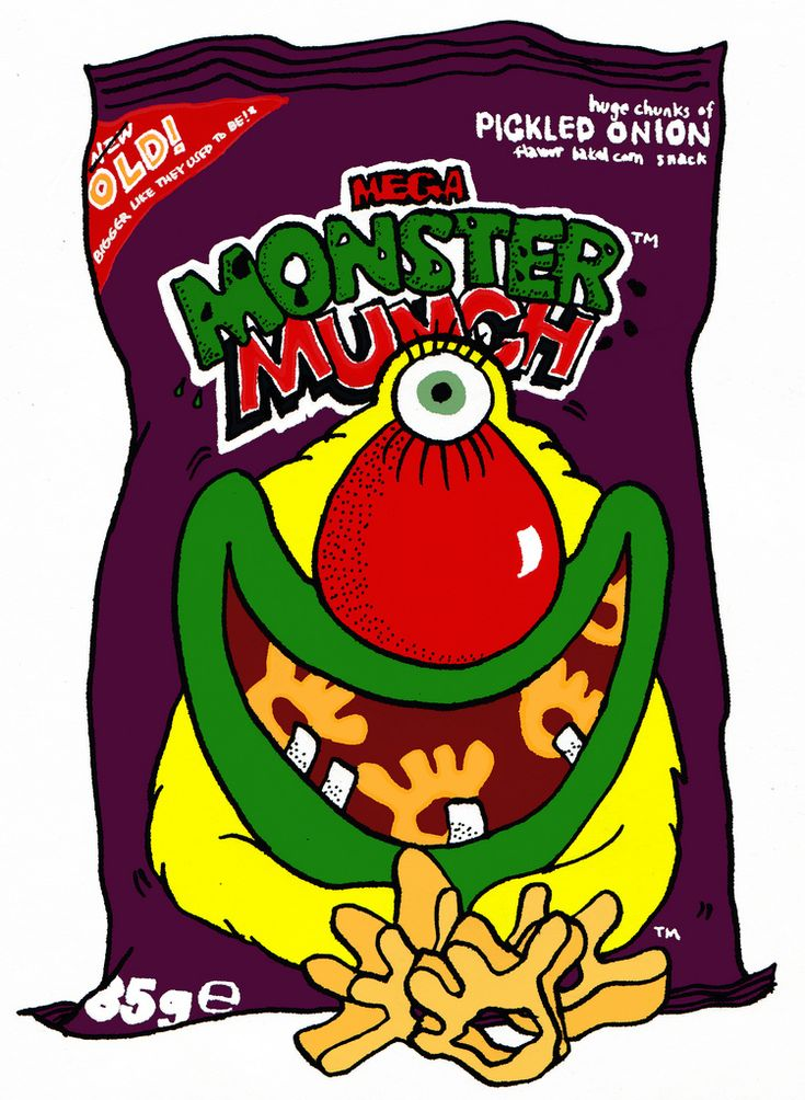 "https://flic.kr/p/5tBro5 | monster munch | new OLD! Monster Munch was launched in Britain in 1977, originally produced by Smiths, and advertised as 'The Biggest Snack Pennies Can Buy' (referring to the then-relatively-large size of the crisps) and has been available in Roast Beef, Pickled Onion, Saucy, Bacon, Cheese & Onion, Prawn Cocktail and Salt & Vinegar flavours. Each pack contained a different monster on the front of the packet. There was even a ""Monster Munch Club"" a..."