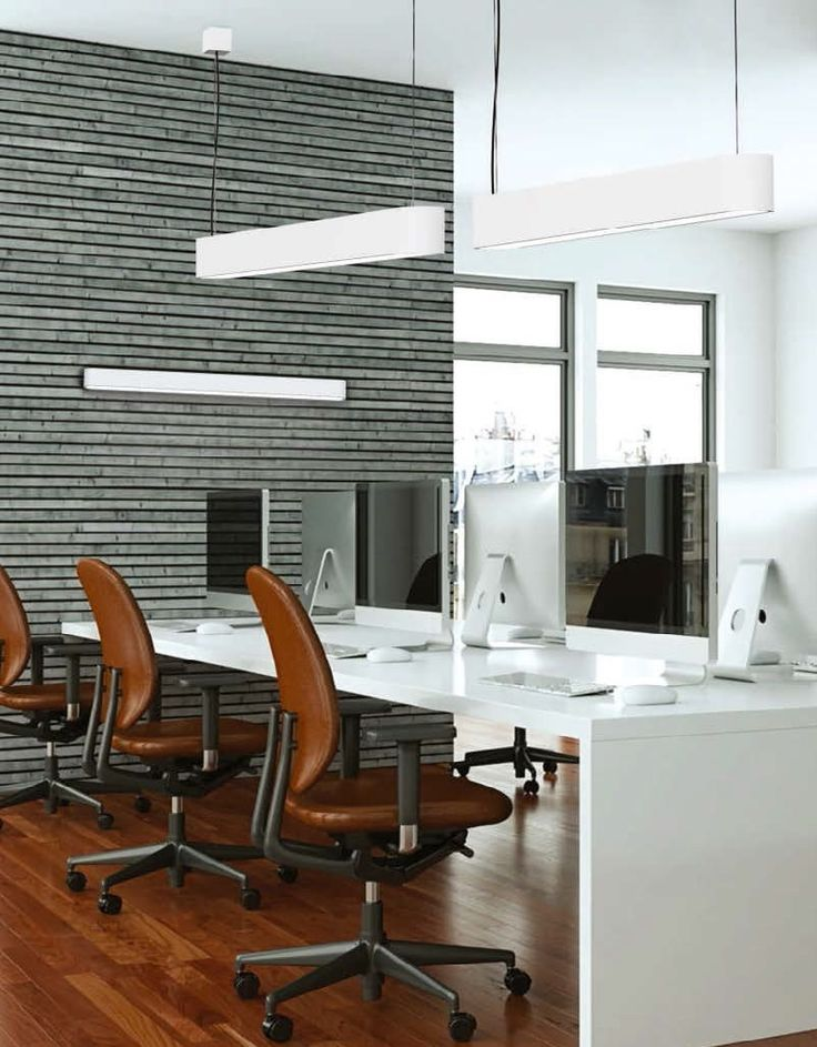 Lampa wisząca Soft White 90 biała podłużna do biura kuchni jadalni salonu nad stół wyspę kuchenną, Indeks: TX6980 - sklep online