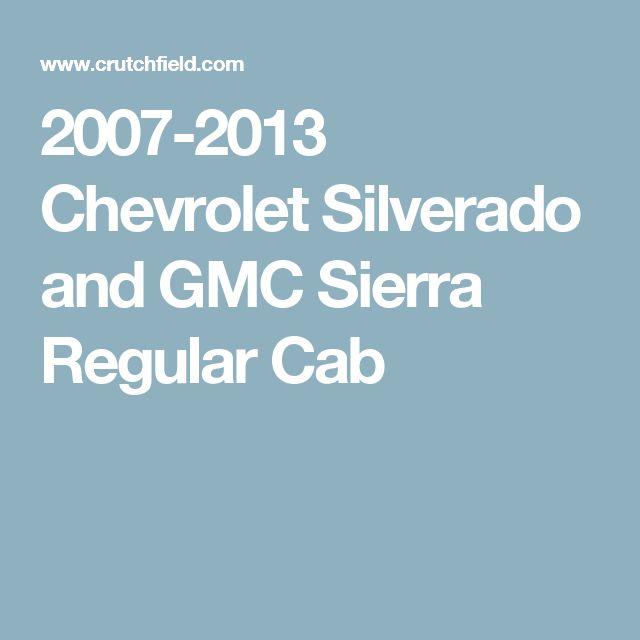 2007-2013 Chevrolet Silverado and GMC Sierra Regular Cab